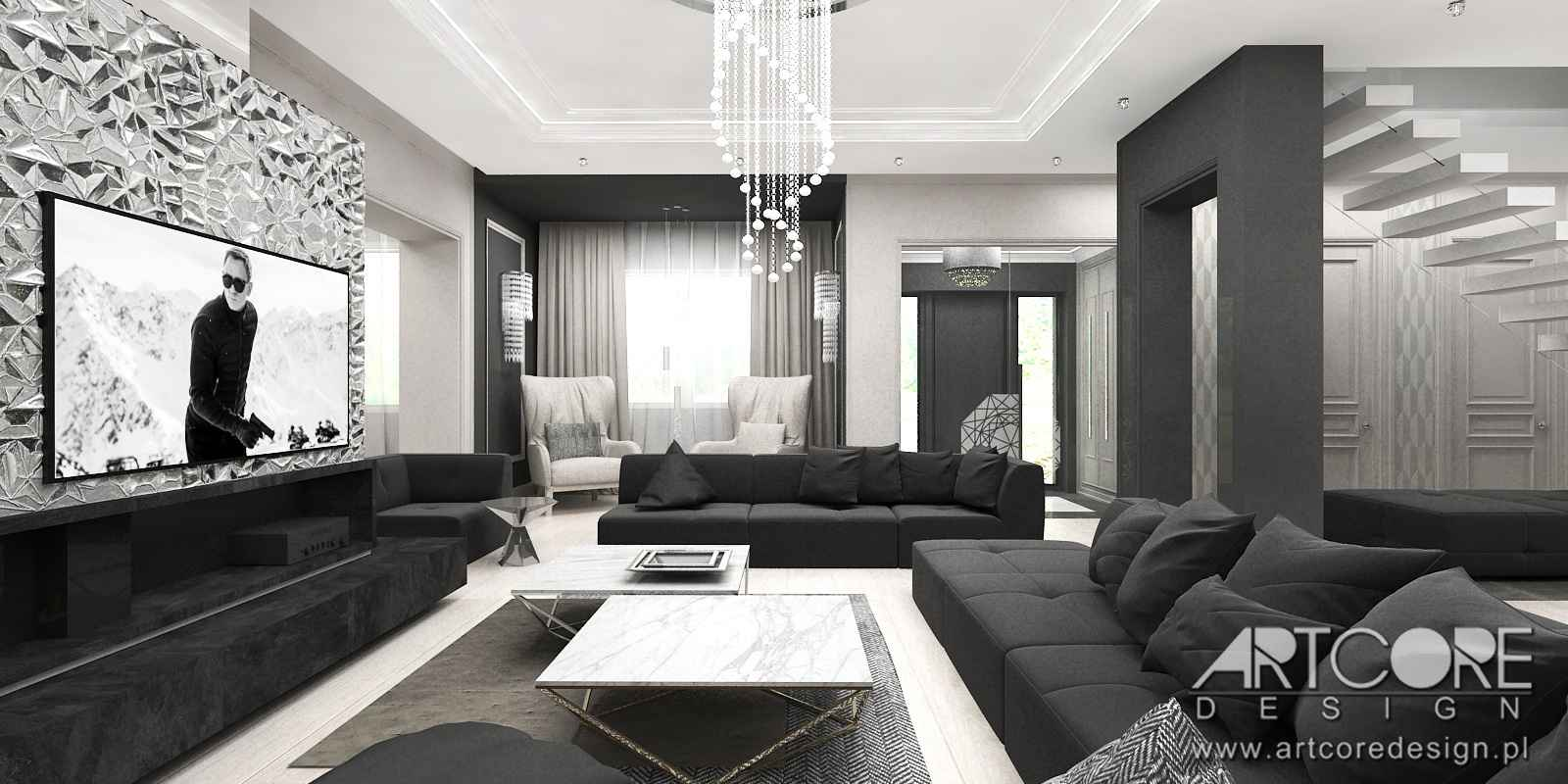 Projekt wnętrza apartamentu warszawa