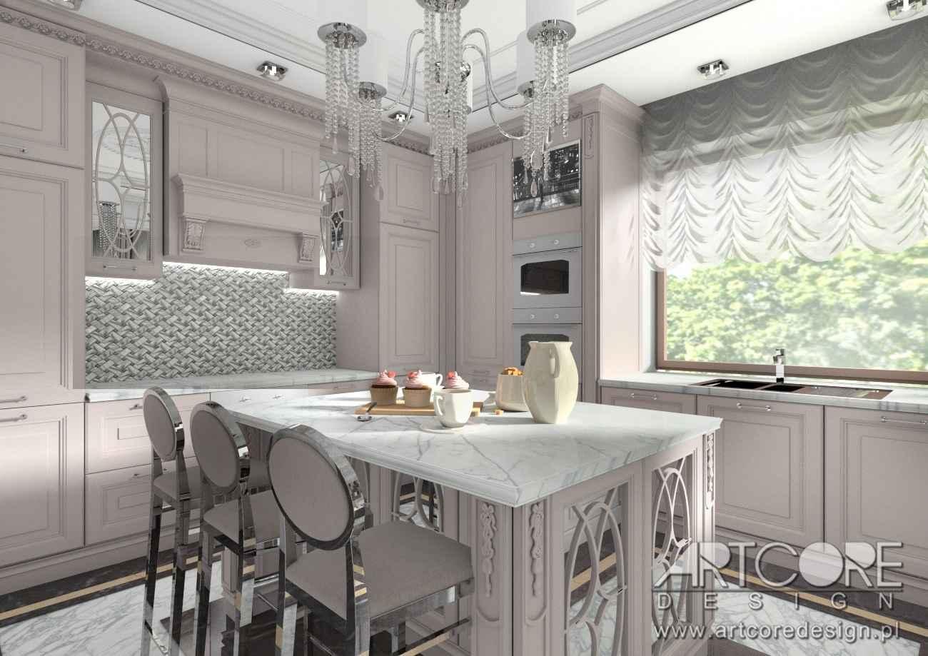 projektowanie wnetrza domowej kuchni w warszawie