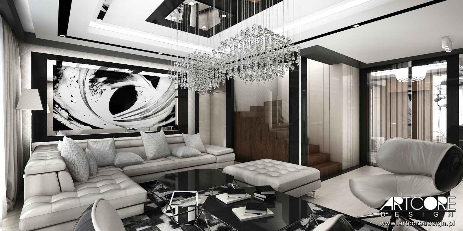 projektant-wnętrz-warszawa-salon-nowoczesny