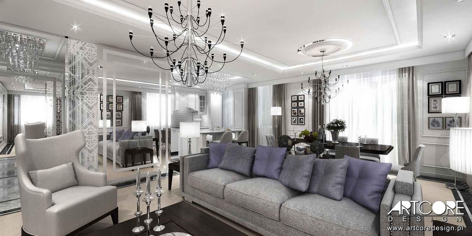 projektowanie wnętrz apartamentu warszawa