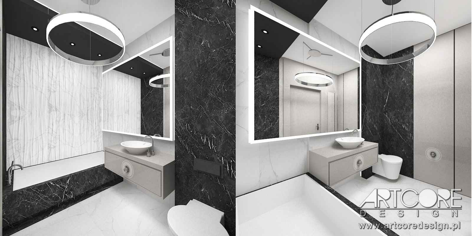 projektowanie wnętrz nowoczesnej łazienki w warszawie