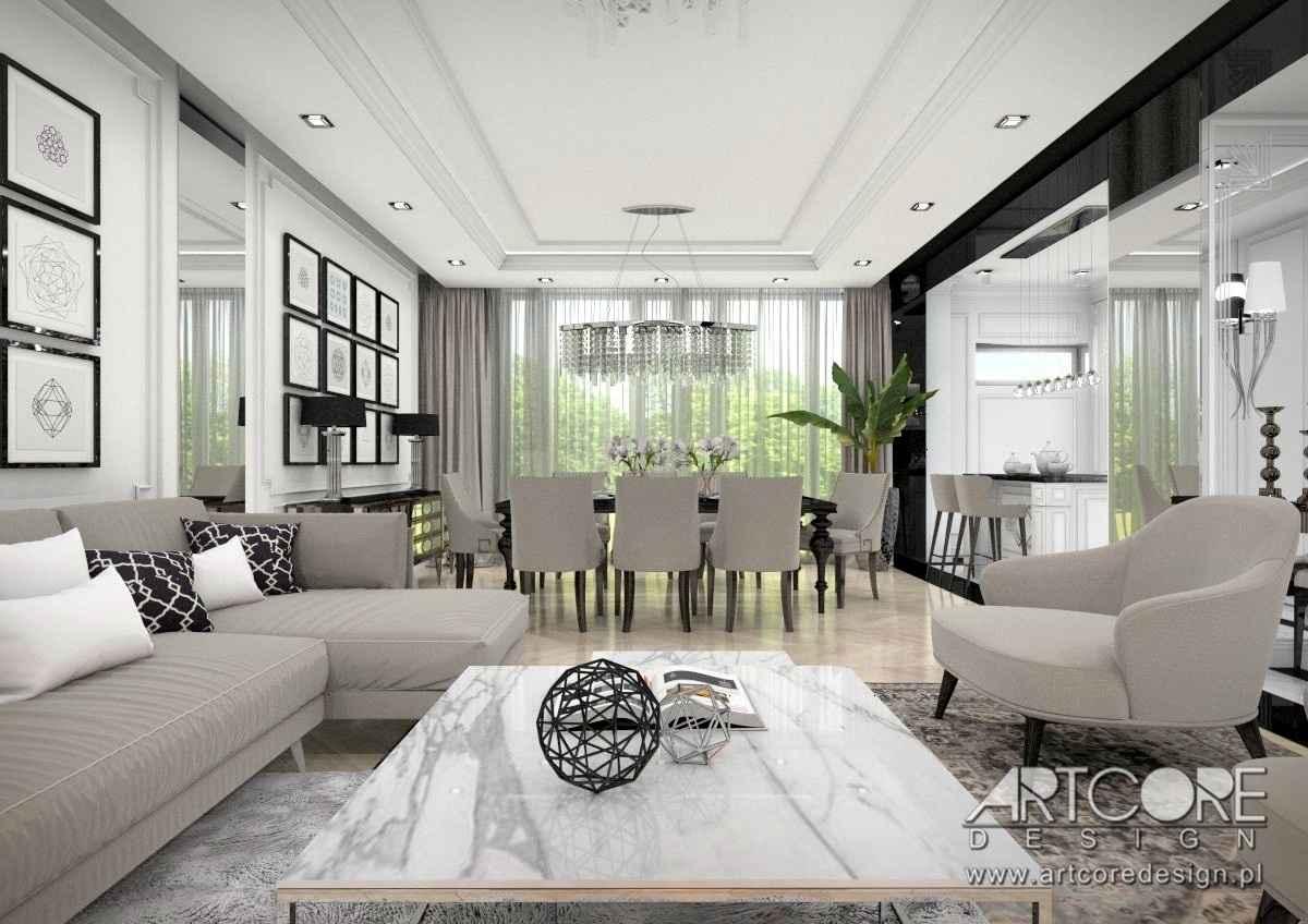 projektowanie wnętrz salonu apartamentu w warszawie