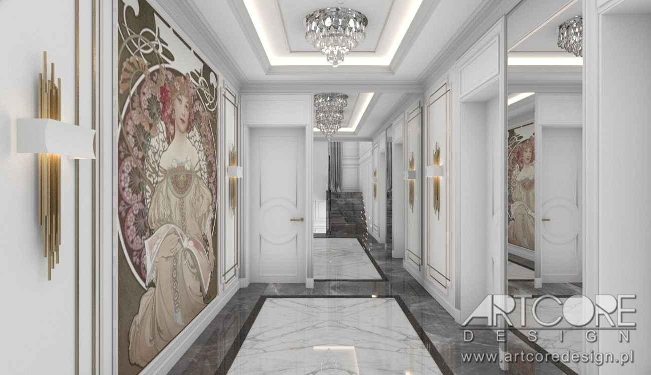 hol w pięknym domu architekt wnętrz warszawa