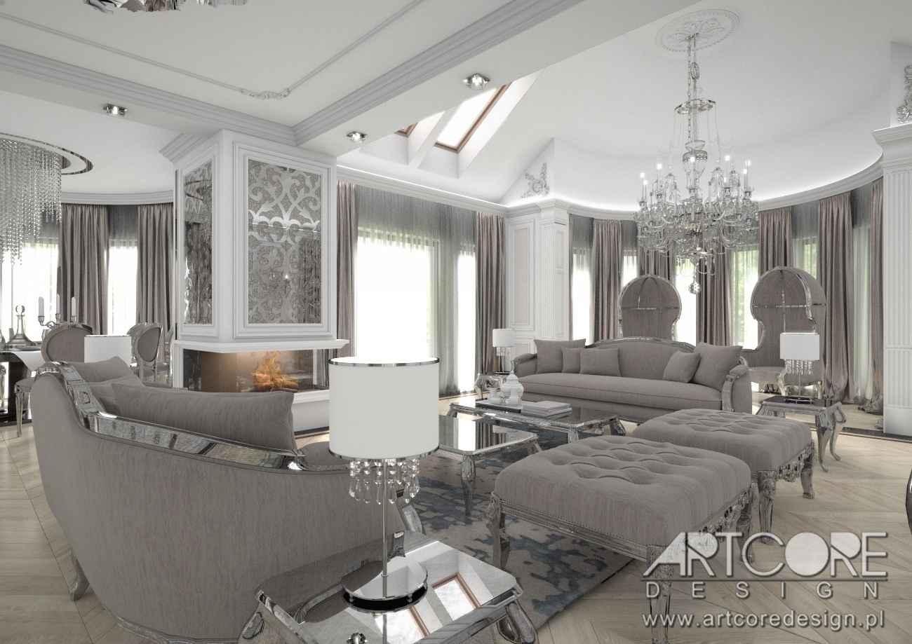 projekt pałacowego salonu w warszawskim domu